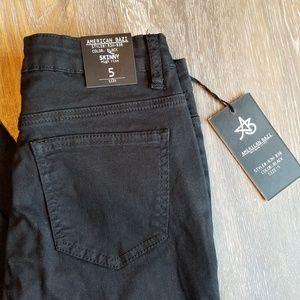American Bazi Black Ripped Skinny Jeans - NWT